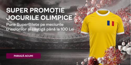Pana la 100 RON bonus de la SUPERBET daca pariezi pe meciurile selectionatei olimpice a Romaniei!