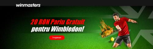 Pariaza pe Wimbledon la WINMASTERS si primesti zilnic pariuri gratuite!