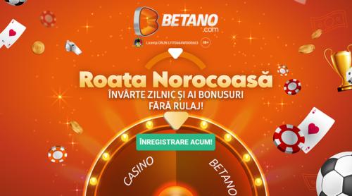 Roata Norocoasă revine pe Betano! Învârte zilnic pentru Bonusuri fără condiții de rulaj