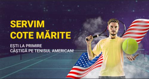 FORTUNA iti mareste castigurile daca pariezi pe meciurile de tenis de la NEW YORK!