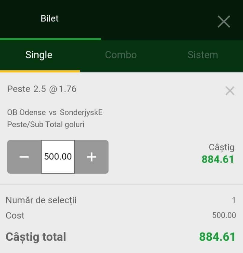 Cota zilei fotbal ERC – Luni 13 Septembrie 2021 – Cota 1.76 – Castig potential 884 RON