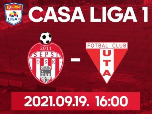Ponturi Sepsi vs UTA fotbal 19 septembrie 2021 Liga 1