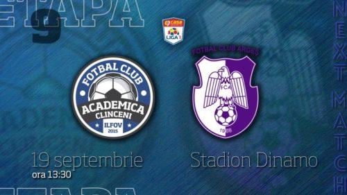 Ponturi Academica Clinceni vs FC Arges fotbal 19 septembrie 2021 Liga 1
