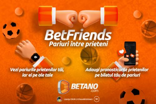 Betano lansează BetFriends, noua funcție pentru a-ți ridica jocul la un alt nivel!