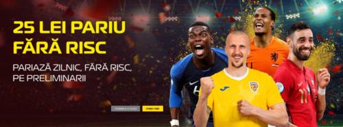 25 RON zilnic daca pariezi pe Preliminariile Cupei Mondiale la CASA PARIURILOR!
