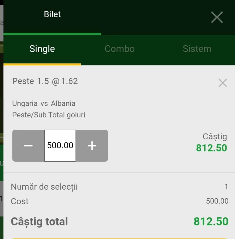 Cota zilei fotbal ERC – Sambata 09 Octombrie 2021 – Cota 1.62 – Castig potential 812 RON