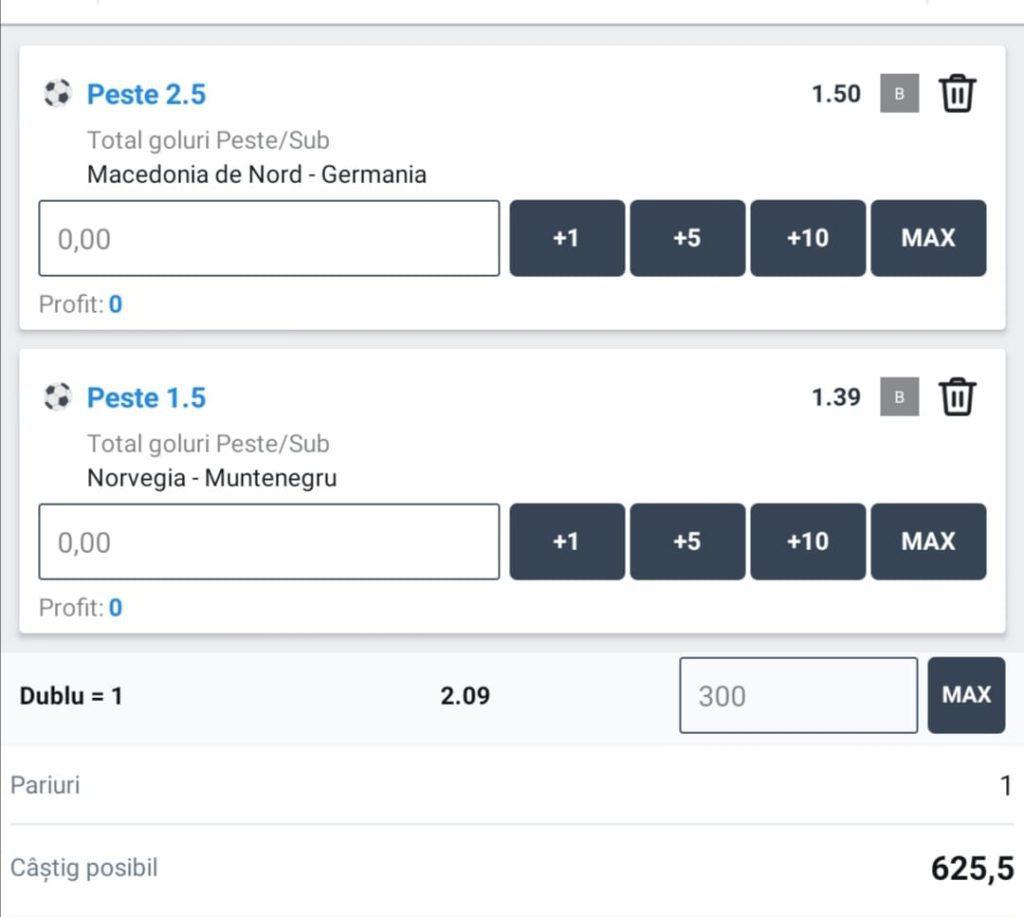 Biletul zilei fotbal ERC – Luni 11 Octombrie 2021 – Cota 2.09 – Castig potential 625 RON