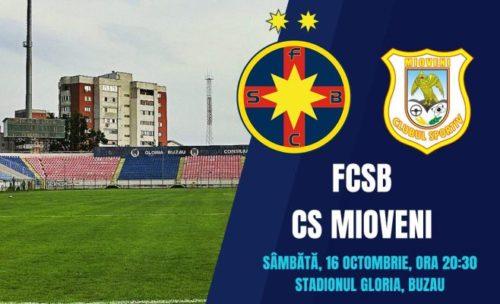 Ponturi FCSB vs Mioveni fotbal 16 octombrie 2021 Liga 1