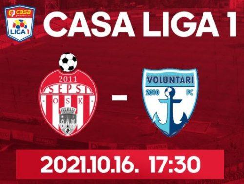 Ponturi Sepsi Sf Gheorghe vs Voluntari fotbal 16 octombrie 2021 Liga 1