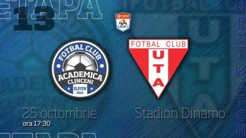 Ponturi Academica Clinceni vs UTA fotbal 25 octombrie 2021 Liga 1
