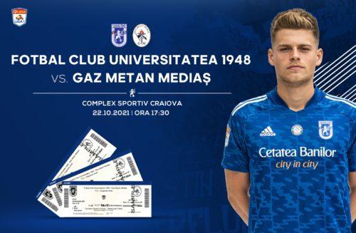 Ponturi FC U Craiova vs Gaz Metan fotbal 22 Octombrie 2021 Liga 1