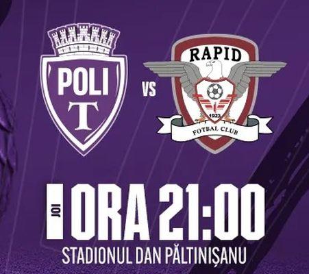 Ponturi Poli Timisoara vs Rapid fotbal 28 octombrie 2021 Cupa Romaniei