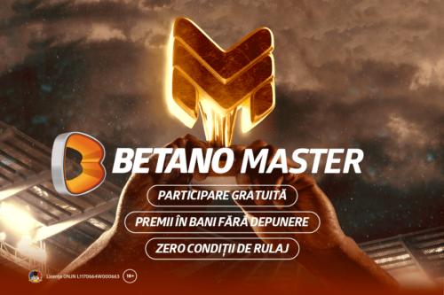 Revine Betano Master, concursul care îți poate aduce 100.000 de LEI CASH fără rulaj!