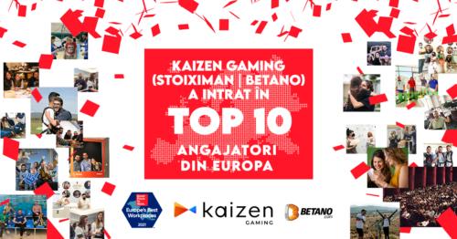Kaizen Gaming este în Top 10 al celor mai bune locuri de muncă din Europa