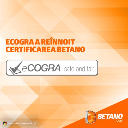 BETANO primește încă o dată cea mai prestigioasă recunoaștere din industrie