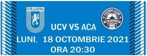 Ponturi Universitatea Craiova vs Academica Clinceni fotbal 18 octombrie 2021 Liga 1